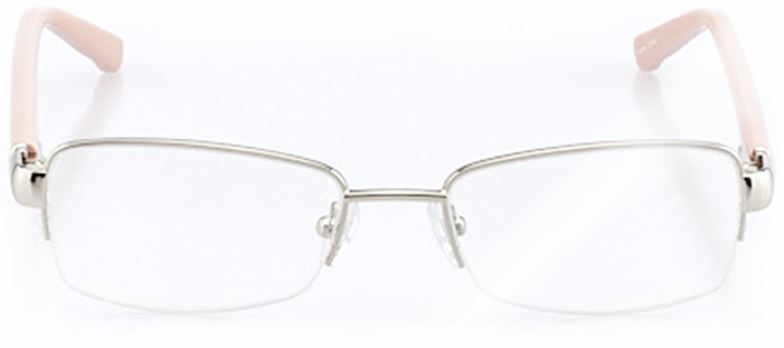 avignon: women's rectangle eyeglasses in pink - front view