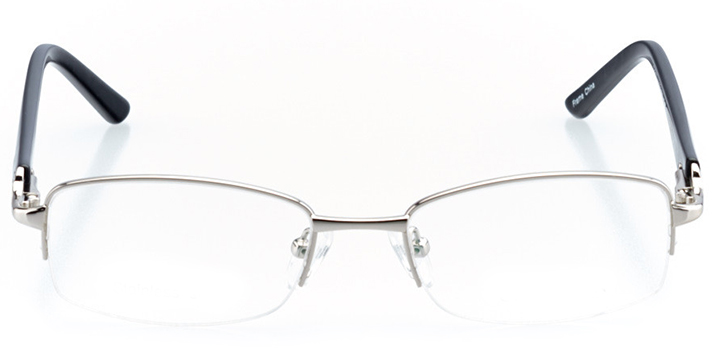 talence: women's rectangle eyeglasses in black - front view