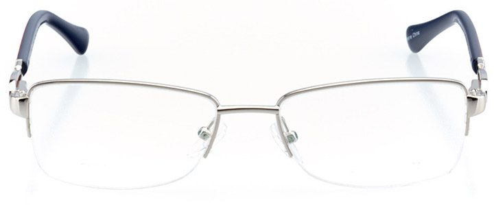 cholet: women's rectangle eyeglasses in silver - front view