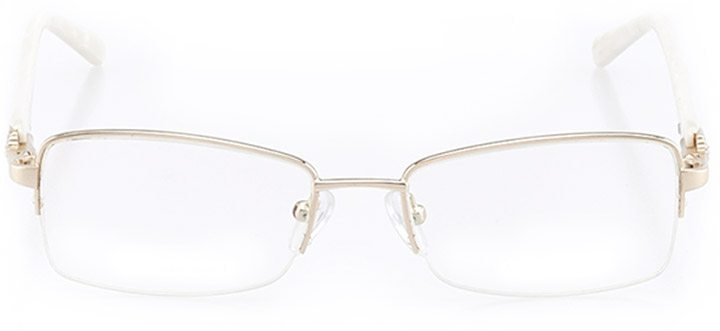 berea: women's rectangle eyeglasses in gold - front view