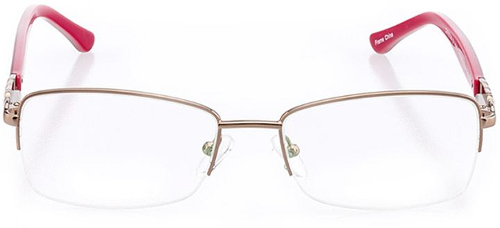 toulon: women's rectangle eyeglasses in brown - front view