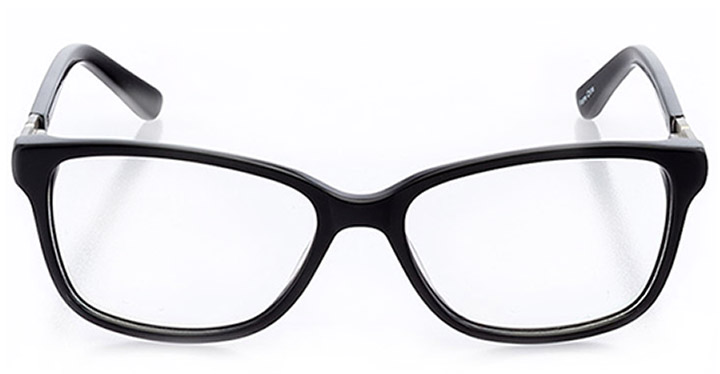 caen: women's square eyeglasses in black - front view