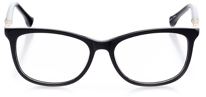 cergy: women's oval eyeglasses in black - front view