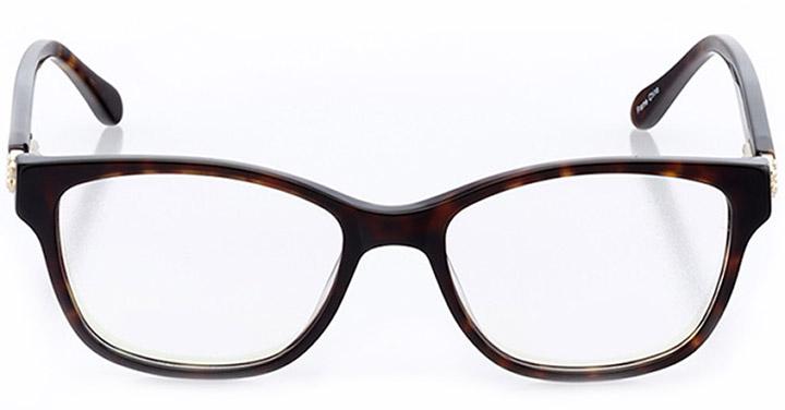 saint-brieuc: women's square eyeglasses in tortoise - front view