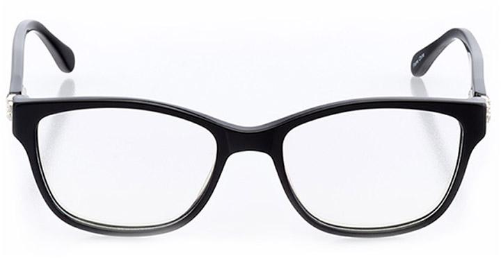 saint-brieuc: women's square eyeglasses in black - front view