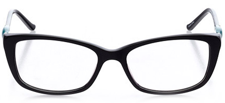 aix-en-provence: women's cat eye eyeglasses in black - front view