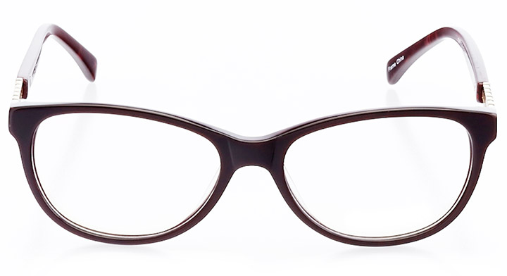 montrouge: women's cat eye eyeglasses in red - front view