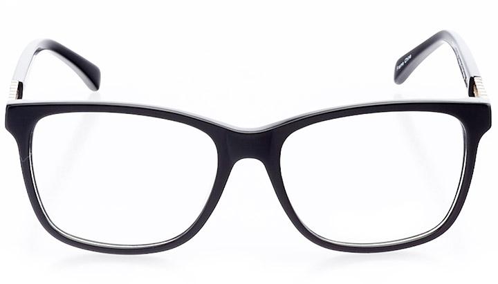 nanterre: women's square eyeglasses in black - front view