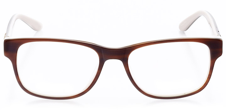 chelles: women's rectangle eyeglasses in brown - front view