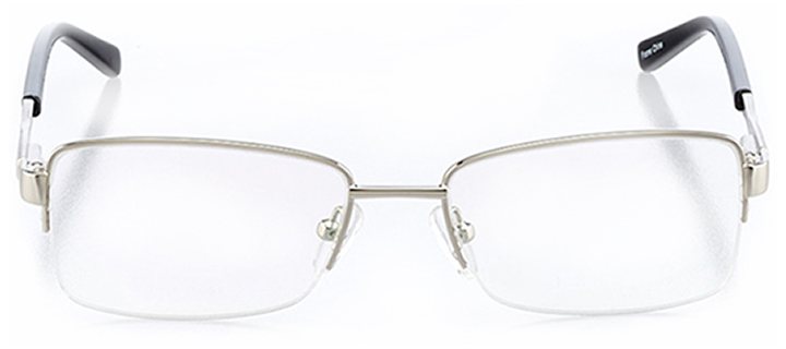 newport news: women's rectangle eyeglasses in silver - front view