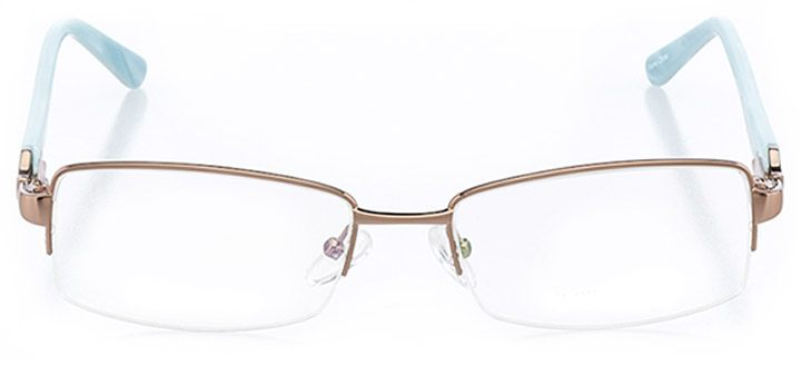 santa rosa: women's rectangle eyeglasses in brown - front view