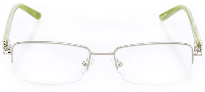 tracy: women's rectangle eyeglasses in silver - front view
