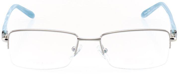 chattanooga: women's rectangle eyeglasses in silver - front view