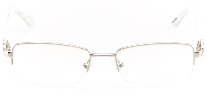 tempe: women's rectangle eyeglasses in gold - front view