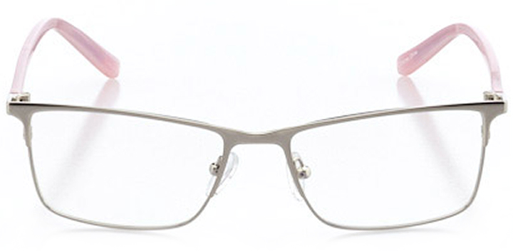 toronto: women's rectangle eyeglasses in silver - front view