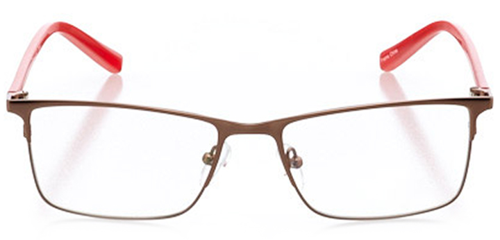 toronto: women's rectangle eyeglasses in brown - front view