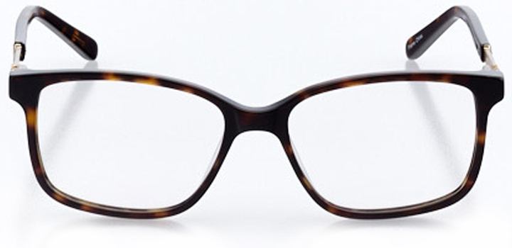 wilmington: women's square eyeglasses in tortoise - front view