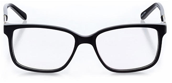 wilmington: women's square eyeglasses in black - front view