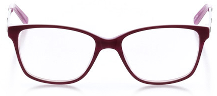 orlando: women's square eyeglasses in purple - front view