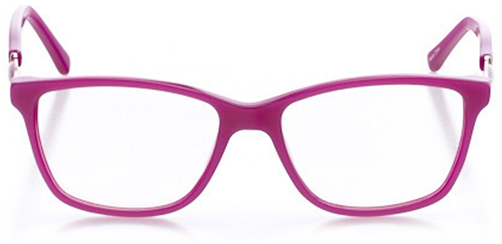 brooklyn: women's square eyeglasses in pink - front view