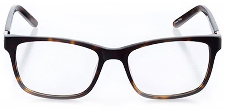 reno: women's rectangle eyeglasses in tortoise - front view