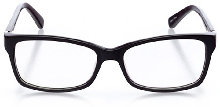 minsk: women's rectangle eyeglasses in purple - front view