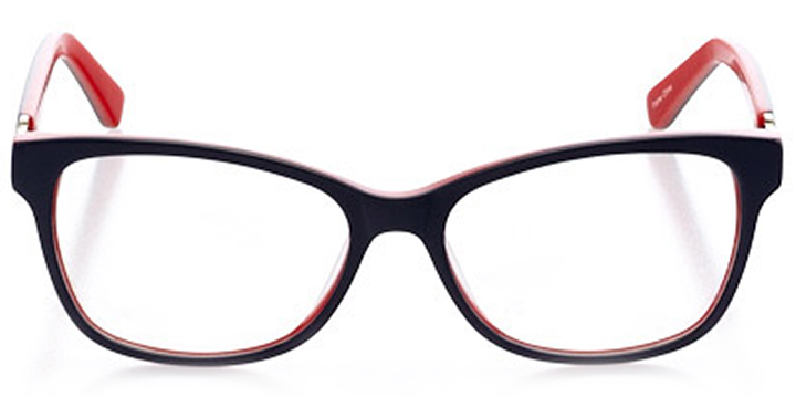 manhattan: women's cat eye eyeglasses in orange - front view