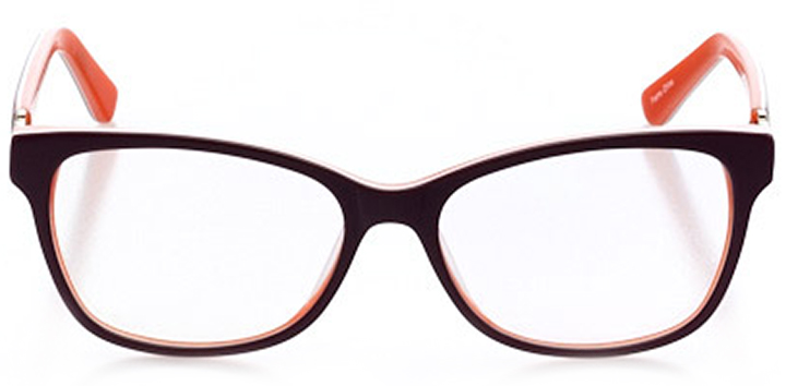 manhattan: women's cat eye eyeglasses in red - front view