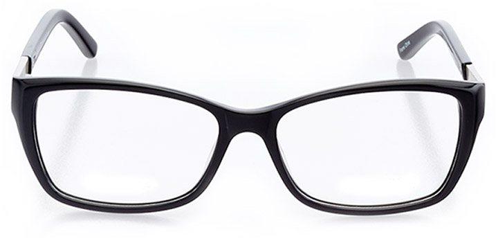 alameda: women's rectangle eyeglasses in black - front view