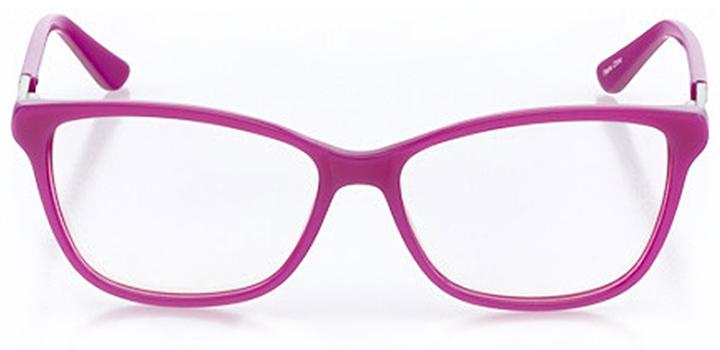 capri: women's cat eye eyeglasses in pink - front view