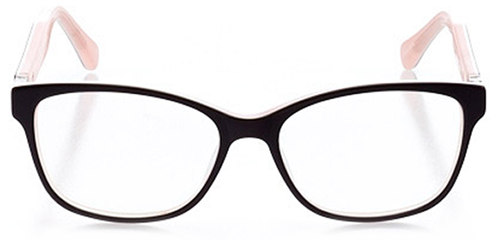 waldorf: women's rectangle eyeglasses in pink - front view