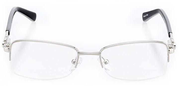 marana: women's rectangle eyeglasses in black - front view