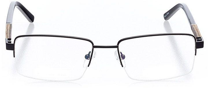 detroit: men's rectangle eyeglasses in black - front view