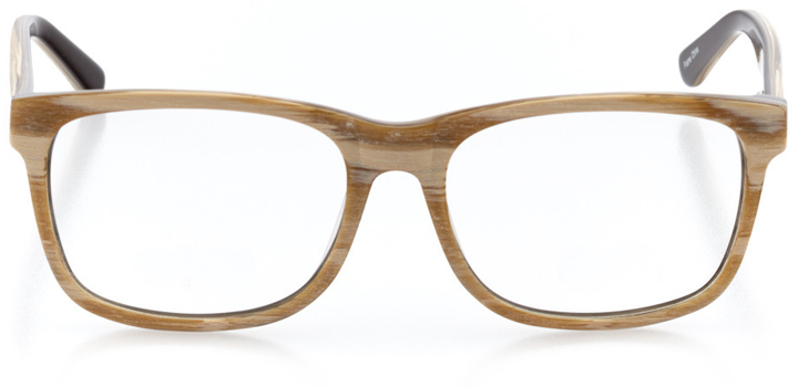 oulu: men's square eyeglasses in brown - front view