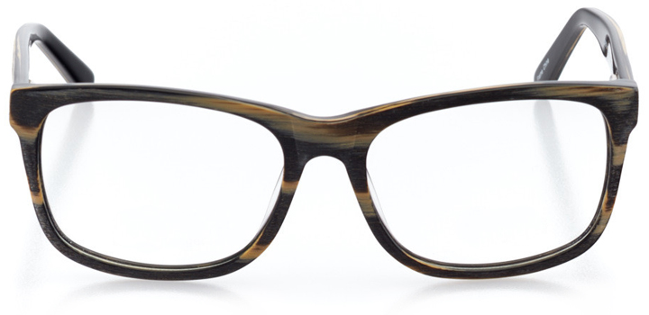 oulu: men's square eyeglasses in black - front view