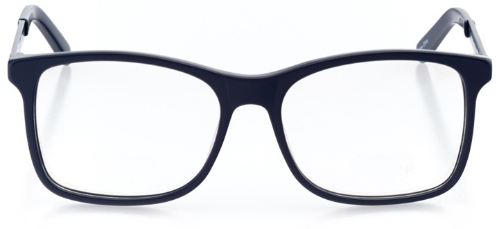 lund: men's square eyeglasses in blue - front view