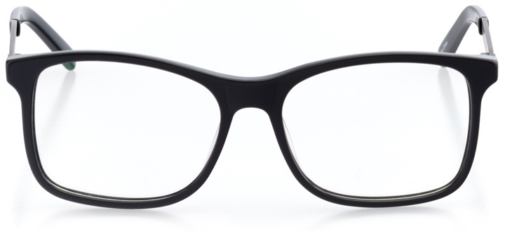 lund: men's square eyeglasses in gray - front view