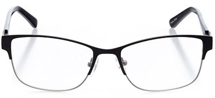 vernier: women's cat eye eyeglasses in black - front view