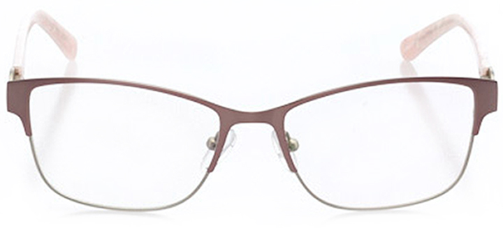 vernier: women's cat eye eyeglasses in pink - front view