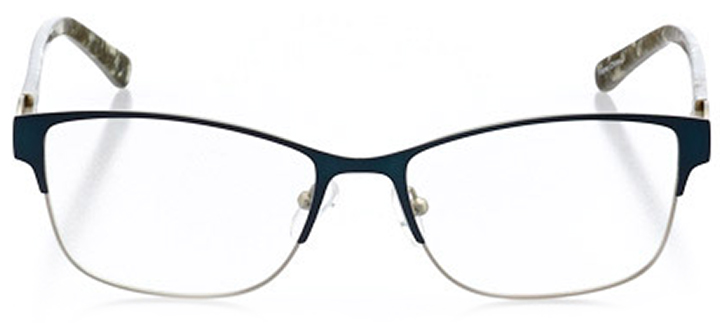 vernier: women's cat eye eyeglasses in blue - front view