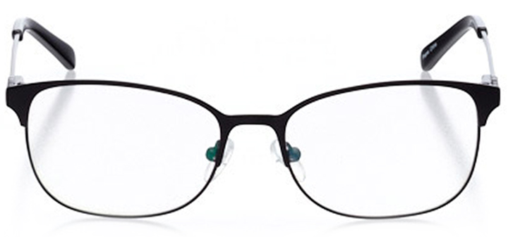 bellinzona: women's oval eyeglasses in black - front view