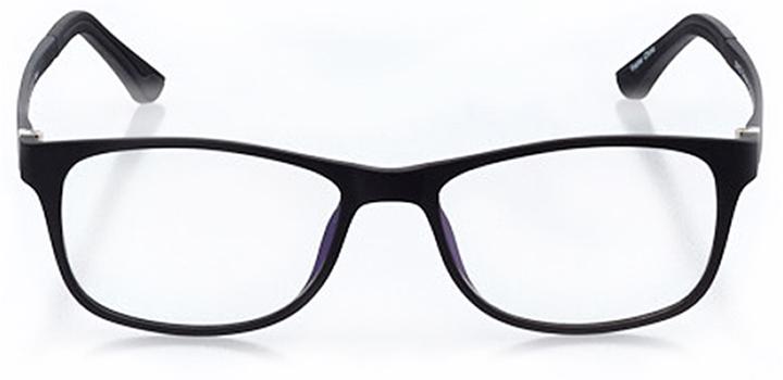 arbon: men's square eyeglasses in black - front view