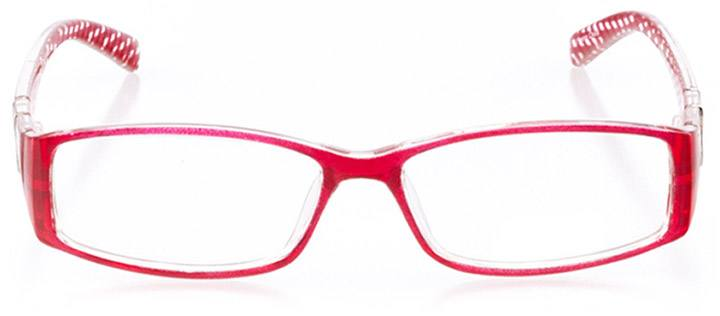 naples: women's rectangle eyeglasses in red - front view