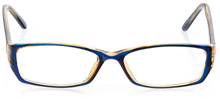 long island: women's rectangle eyeglasses in blue - front view