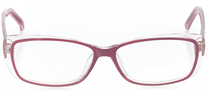elizabeth: women's rectangle eyeglasses in purple - front view