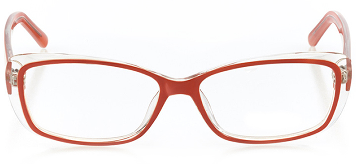 elizabeth: women's rectangle eyeglasses in orange - front view