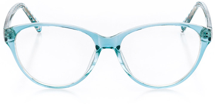 monterey: women's oval eyeglasses in blue - front view