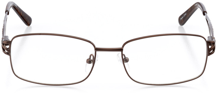 dallas: women's square eyeglasses in brown - front view