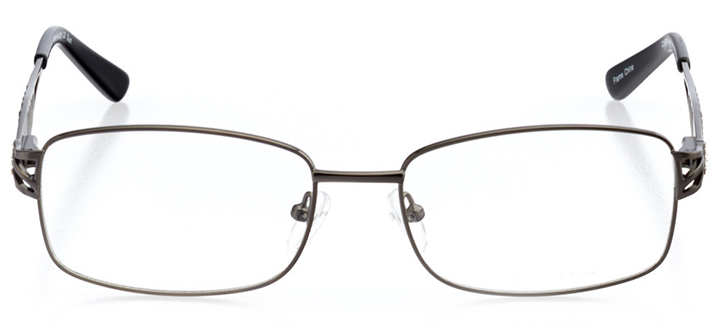 dallas: women's square eyeglasses in gray - front view