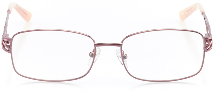 dallas: women's square eyeglasses in pink - front view